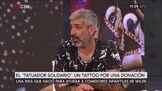 El tatuador solidario: un tattoo por una donación