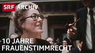 10 Jahre Frauenstimmrecht - Eine Bilanz |  Politische Rechte der Frau | SRF Archiv