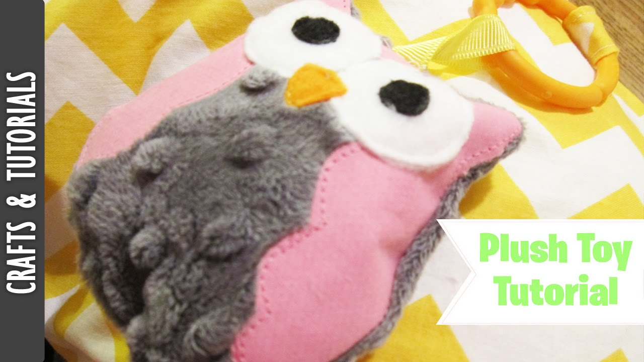 Owl Plush Toy Rattle Tutorial For Babies Youtube