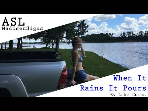 MadiSigns ~ When it Rains it Pours by Luke...