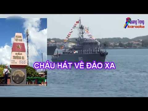 Cháu hát về đảo xa karaoke