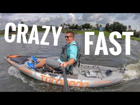 CRAZY 1100 Watt Torqeedo Motor On Bonafide Kayak
