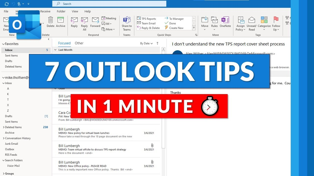 7 Microsoft Outlook Tips and Tricks in 1 minute