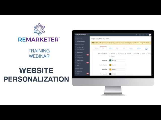 REMARKETER Training - System Configurations