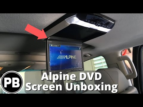 Alpine Flip-Down DVD Player Screen Unboxing