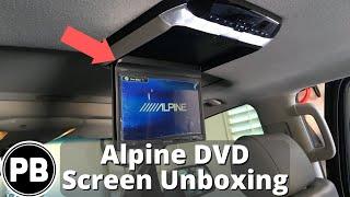 Alpine Flip-Down DVD Player Screen Unboxing