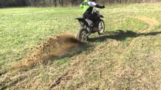 World highest dirt bike burnout