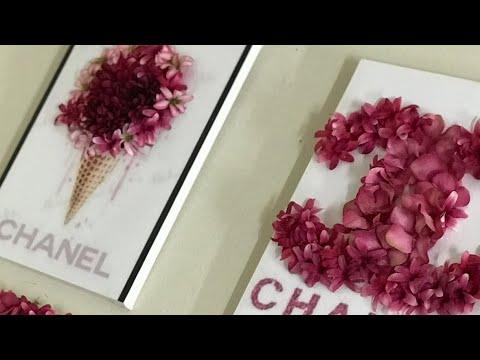 3d Flower Canvas Wall Art Using Dollar Tree Flowers Chanel