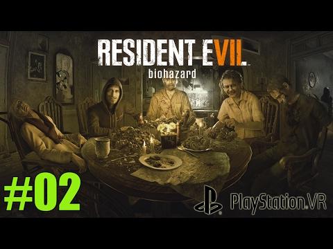 Resident Evil 7 en VR #02 -  Cena familiar, el día que casi me da un infarto - (ps4 pro)
