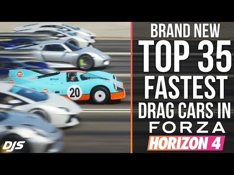 NEW TOP 35 FASTEST DRAG CARS!! Forza Horizon 4 - Is the Mclaren F1 GT still the fastest? thumbnail