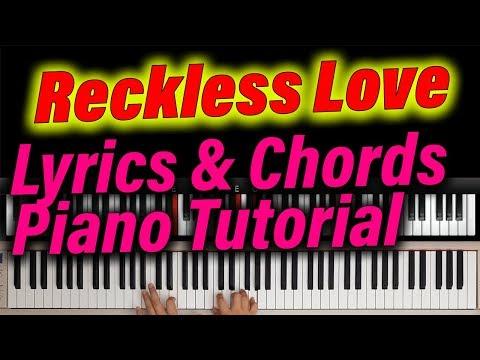 RECKLESS LOVE - Lyrics & Chords EASY Piano Worship Tutorial (Cory Asbury) Bethel Music.