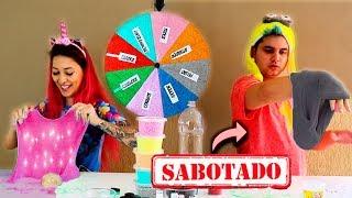 DESAFIO DA ROLETA MISTERIOSA DE SLIME SABOTADO #5 ( MYSTERY WHEEL OF SLIME )