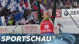 Biathlon: Vanessa Hinz holt ihren ersten Weltcupsieg   Sportschau