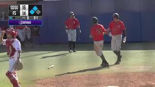 SDSU BASEBALL: AZTECS 21, FRESNO STATE 14