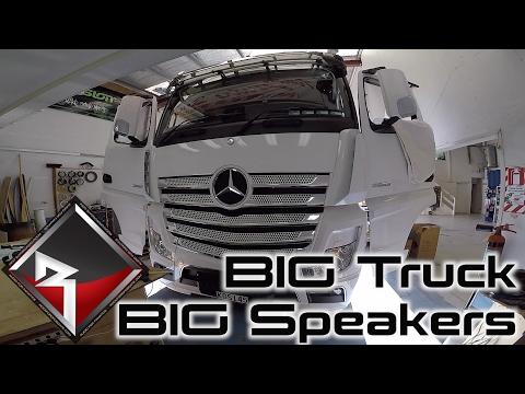 "2017 Mercedes BIG RIG | Rockford Fosgate 8"" Speakers Install!"