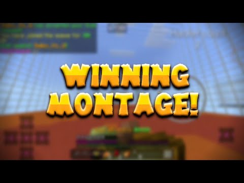 WINNING MONTAGE+ TYPICAL HACKERS | PVP SERVER FOR MCPE 1.2+ [1.2.8]