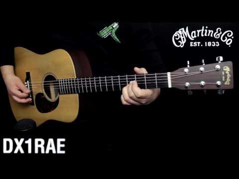 Martin DX1 RAE acoustic guitar :: Demo
