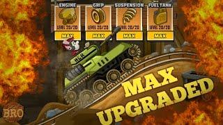 MAX UPGRADED TANK ON MINES MAP-Hill Climb Racing 2 [Full HD]