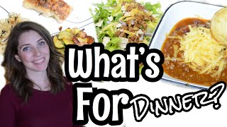WHAT'S FOR DINNER | EASY WEEKNIGHT MEAL IDEAS | WORKING MOM DINNER IDEAS | EASY DINNER IDEAS