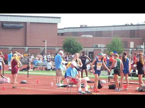 Chris Haase Wisconsin Track STATE 2011 First long jump big scratch