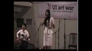 Download lagu Tyan ft Febry - Perahu Kertas at Solo Vocal Competition UI Art War 2012