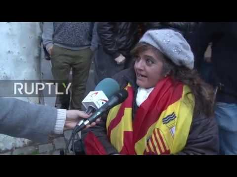 Spain: Nationalists rally in support of Civil Guard in Manresa