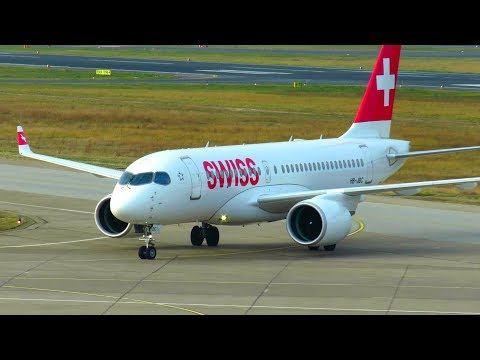 SWISS Bombardier CS100 [HB-JBC] Landing and Takeoff at Berlin Tegel Airport (TXL)!