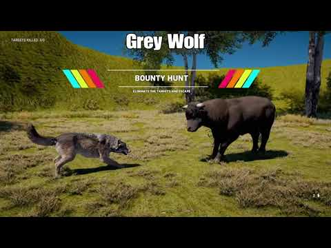 Far Cry 5: Bison, Bull and Moose Fighting Predators