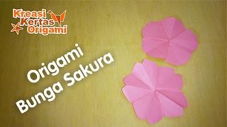 Cara Mudah Membuat Bunga Sakura dari Kertas Origami