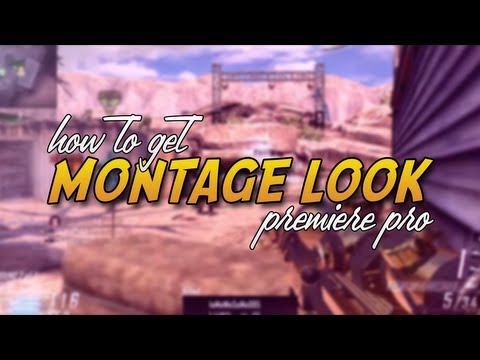 How to get that CoD montage look! (Premiere Pro tutorial)