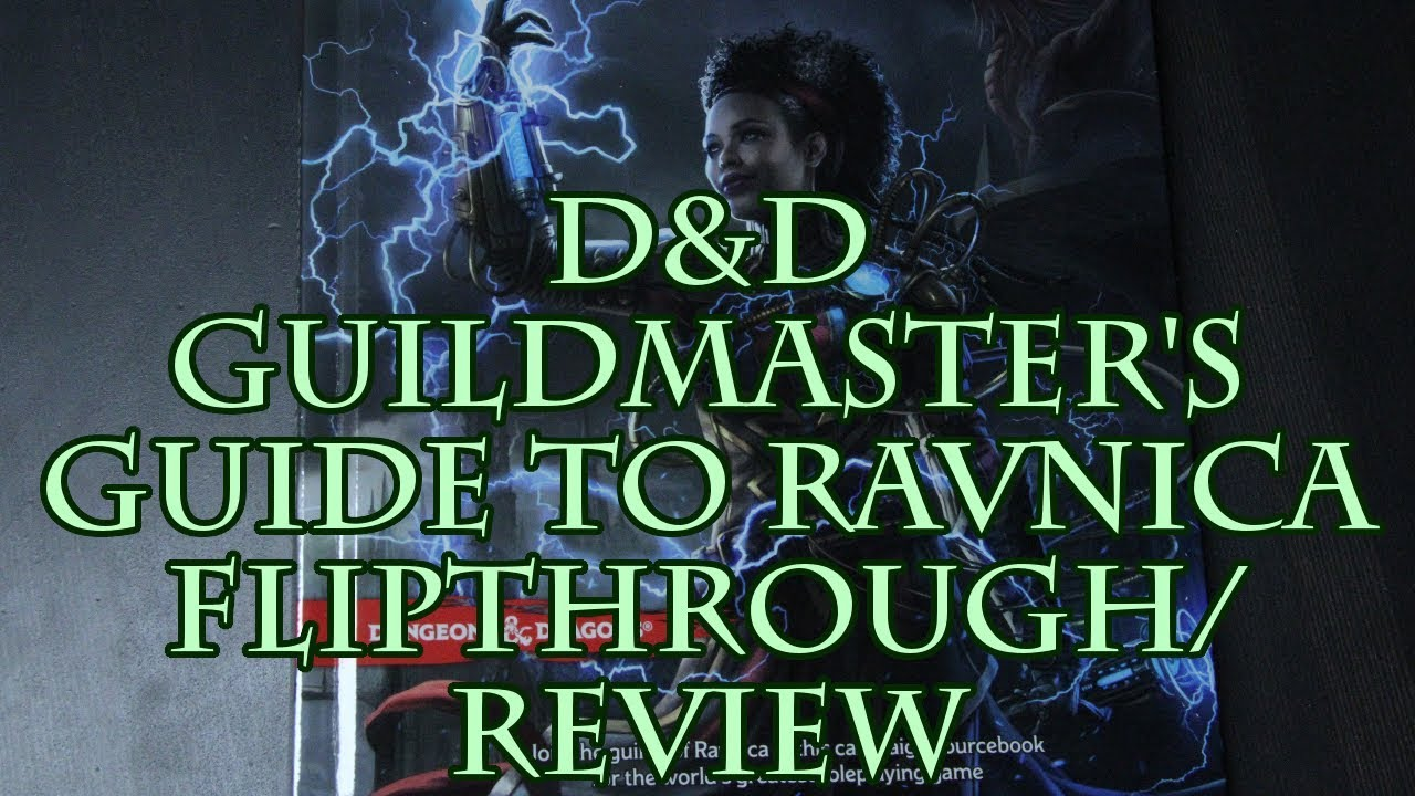 D&D Guildmaster's Guide to Ravnica Flipthrough/Review
