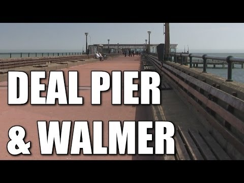 Deal Pier & Walmer Beaches In Kent - British Sea Fishing Spots, South East Coast, England, UK