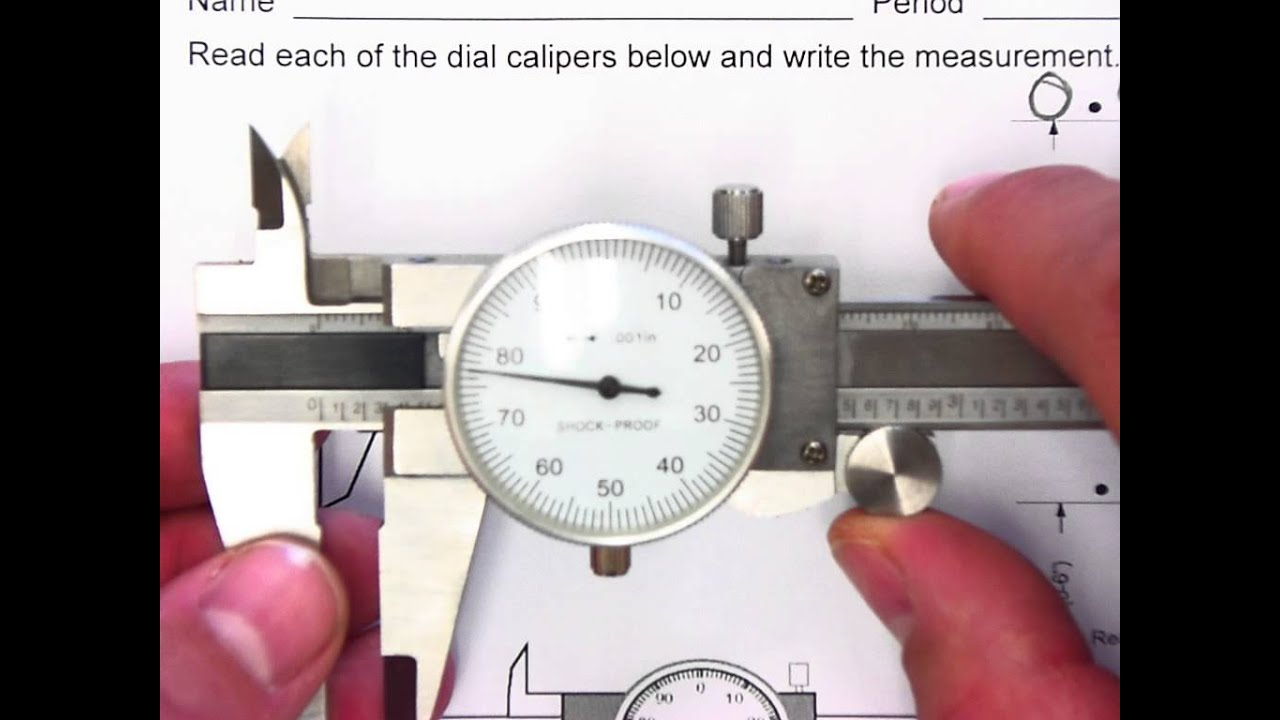 worksheet Reading A Metric Micrometer Worksheet how to read a dial caliper youtube