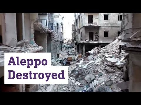 Drone footage from east Aleppo reveals massive destruction