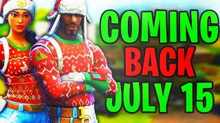"RARE SKIN ""Yuletide Ranger"" is COMING BACK on JULY 15th - Fortnite Rare skin back in item Shop!"