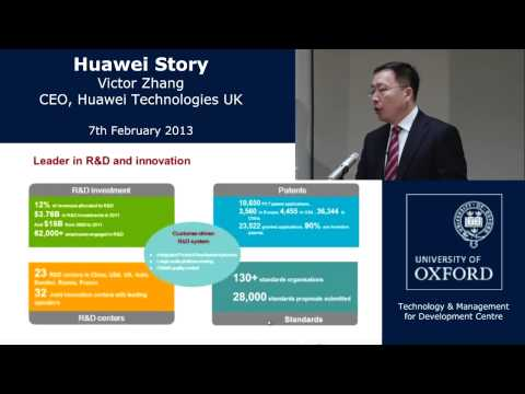 TMCD Distinguished Guest Lecture With Victor Zhang, CEO Of Huawei Technologies UK