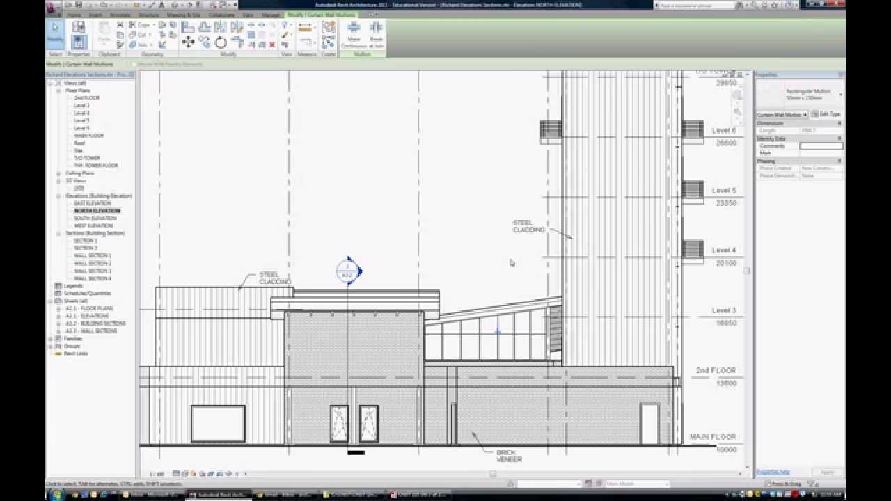 Drawing Lines Revit : Tutorial how to control building elevation line