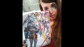 DRAWING VALKYRIE SKIN FROM FORTNITE WITH FROSTWING