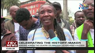 DP Ruto cheers on as Eliud Kipchoge makes history
