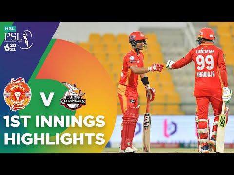 1st Innings Highlights   Lahore Qalandars vs Islamabad United   Match 15   HBL PSL 6   MG2T