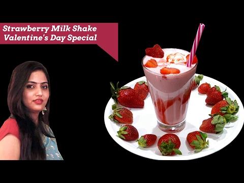 strawberry milkshake-valentine's day special-summer drink