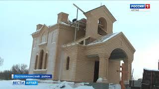 В селе Калмыцкие Мысы строят церковь, которая была разрушена 100 лет назад
