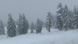 Skiing in October? Timberline Lodge opens early