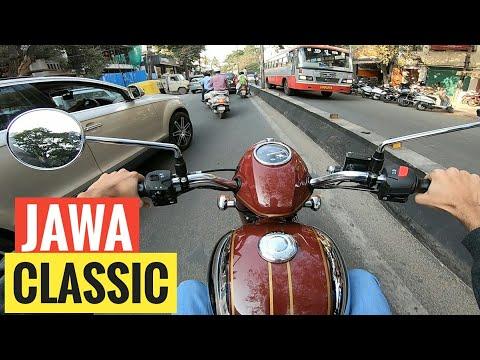 JAWA Classic Test Ride RAW Video With Exhaust Sound | GoPro Hero7 Black| Rishabh Chatterjee Motovlog