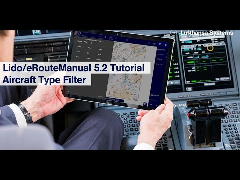 Lido/eRouteManual 5.2 Tutorial  Aircraft Type Filter / Lufthansa Systems