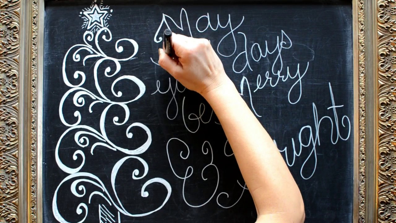 holiday chalkboard ideas diy christmas chalkboard art youtube