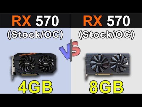 RX 570 4GB Vs. RX 570 8GB | Stock And Overclock | Latest Drivers Updates