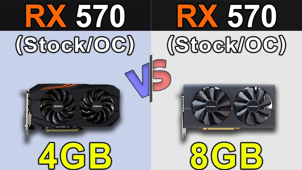 RX 570 4GB Vs  RX 570 8GB | Stock and Overclock | Latest Drivers Updates