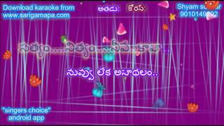 Nuvu leka anadhalam karaoke with lyrics Sri Shirdi Sai Baba karaoke with lyrics