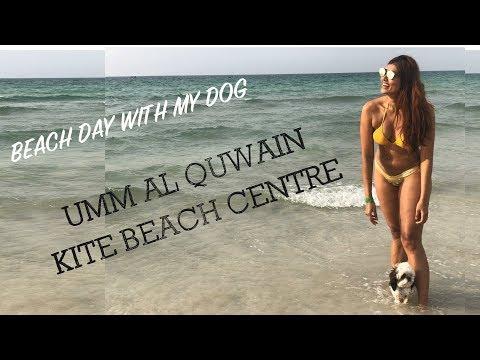 BEACH DAY WITH MY DOG | UMM AL QUWAIN KITE BEACH CENTRE | Bosslady Shruti